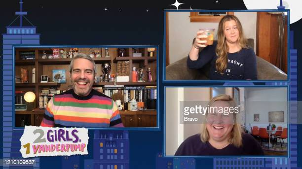 Episode 17062 -- Pictured in this screen grab: Andy Cohen, Bridget Everett, Amy Schumer --