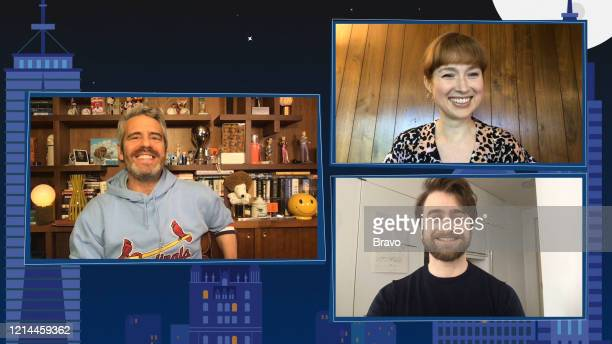 COHEN @ HOME Episode 17089 Pictured in this screen grab Andy Cohen Daniel Radcliffe Ellie Kemper