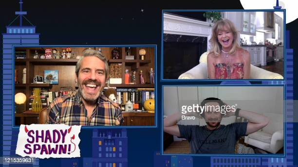 Episode 17093 -- Pictured in this screen grab: Andy Cohen, Goldie Hawn, Oliver Hudson --