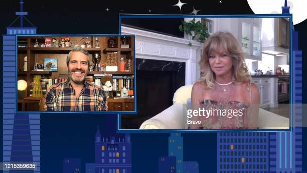 Episode 17093 -- Pictured in this screen grab: Andy Cohen, Goldie Hawn --
