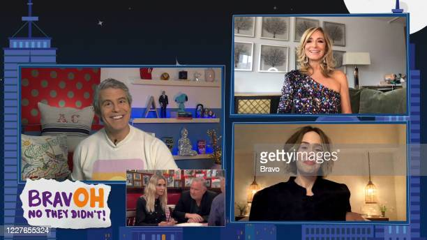 Episode 17113 -- Pictured in this screen grab: Andy Cohen, Sarah Paulson, Sonja Morgan --