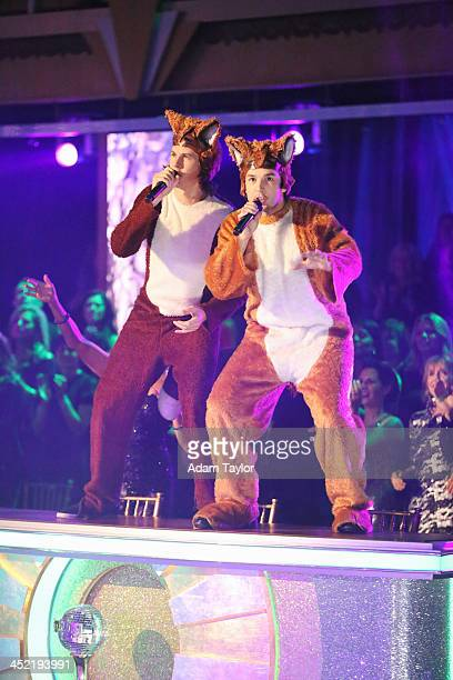 """Episode 1711A"""" - Ylvis performed their hit single """"The Fox,"""" accompanied by select celebrity and pro dancers, on the two-hour Season Finale on..."""