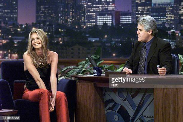 Model Elle MacPherson during an interview with host Jay Leno on November 10 1999 Photo by NBC/NBCU Photo Bank