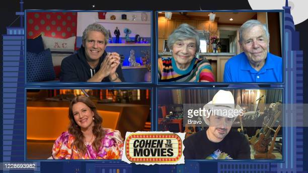 Episode 17150 -- Pictured in this screen grab: Drew Barrymore, Andy Cohen, Evelyn Cohen, Brad Paisley, Lou Cohen --