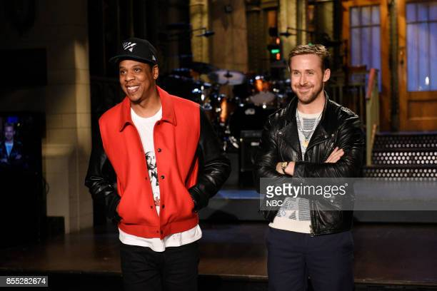Musical Guest JayZ with Host Ryan Gosling in Studio 8H on Thursday September 28 2017