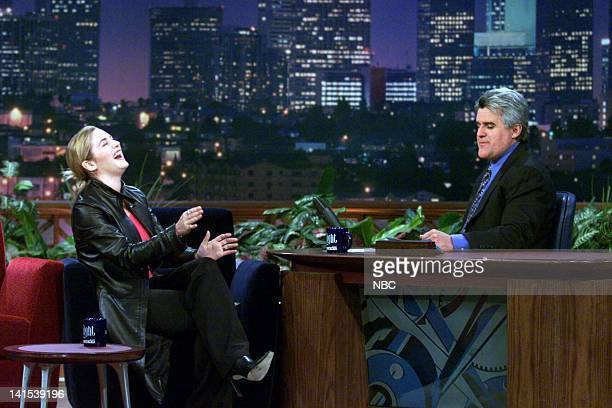 Actress Kate Winslet during an interview with host Jay Leno on November 29 1999 Photo by NBC/NBCU Photo Bank