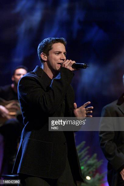 Jeffrey Timmons of musical guest 98 Degrees performs on November 29 1999