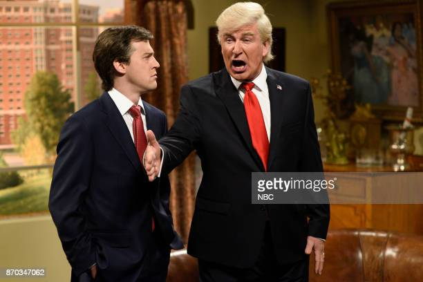 Alex Moffat as Paul Manafort Alec Baldwin as President Donald J Trump during Manafort's House Cold Open in Studio 8H on Saturday November 4 2017...