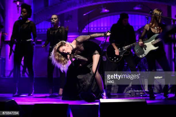 Miley Cyrus performs 'Bad Mood' in Studio 8H on Saturday November 4 2017