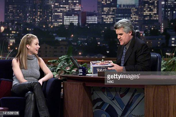 Actress Christina Applegate during an interview with host Jay Leno on December 1 1999 Photo by NBC/NBCU Photo Bank