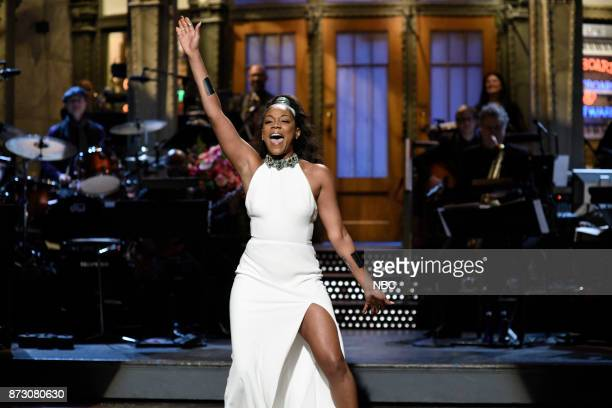 Host Tiffany Haddish during the Opening Monologue in Studio 8H on Saturday November 11 2017
