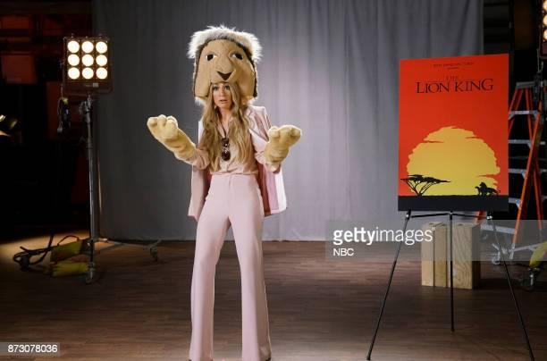 Melissa Villaseñor as Celine Dion during 'Lion King Auditions' on Saturday November 11 2017