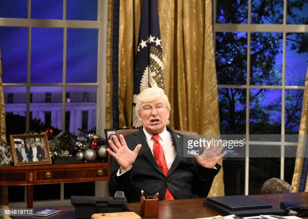 Alec Baldwin as President Donald J Trump during White House Cold Open in Studio 8H on Saturday December 2 2017