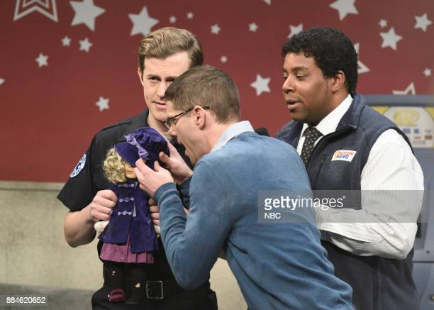 Alex Moffat Mikey Day Kenan Thompson during 'American Girl Store' in Studio 8H on Saturday December 2 2017