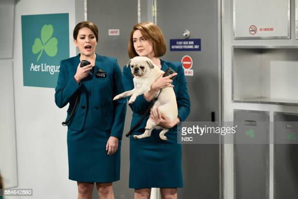 Cecily Strong Saoirse Ronan during 'Aer Lingus' in Studio 8H on Saturday December 2 2017