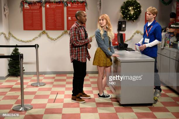 Chris Redd Saoirse Ronan Mikey Day during 'Return Counter' in Studio 8H on Saturday December 2 2017