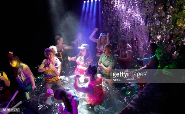 Heidi Gardner Aidy Bryant Chris Redd during 'Floribama Shore' on Saturday December 2 2017