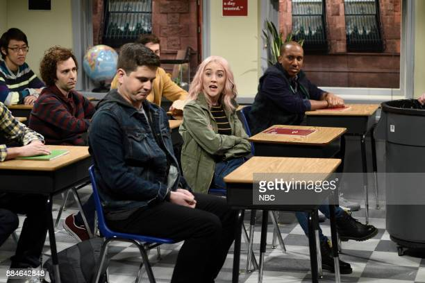 Luke Null Saoirse Ronan Chris Redd during 'Late for Class' in Studio 8H on Saturday December 2 2017