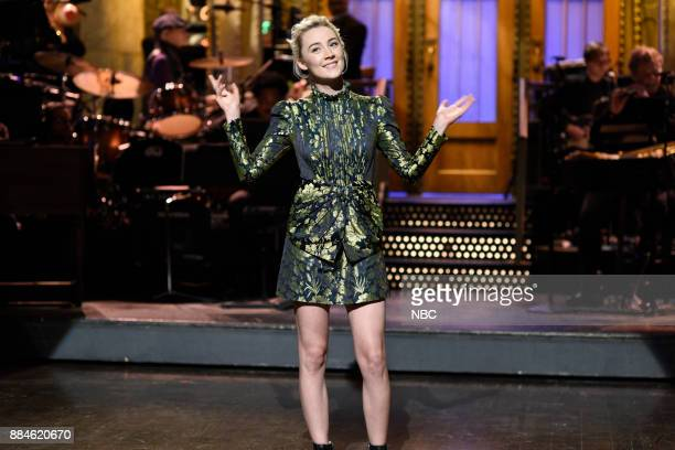 Saoirse Ronan during the Opening Monologue in Studio 8H on Saturday December 2 2017