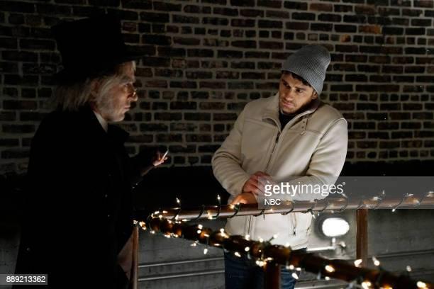 Beck Bennett James Franco during 'Scrudge' on Saturday December 9 2017