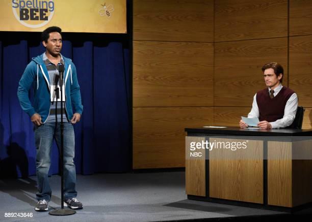Chris Redd James Franco during 'Spelling Bee' in Studio 8H on Saturday December 9 2017