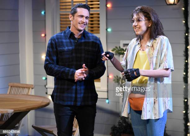 James Franco Heidi Gardner during Reunion in Studio 8H on Saturday December 9 2017