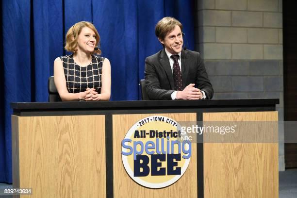 Kate McKinnon Alex Moffat during 'Spelling Bee' in Studio 8H on Saturday December 9 2017