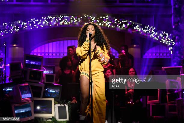 Musical Guest SZA performs 'Love Galore' in Studio 8H on Saturday December 9 2017