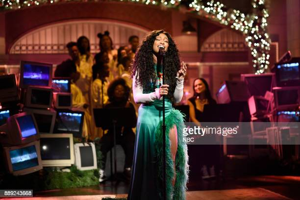 Musical Guest SZA performs The Weekend in Studio 8H on Saturday December 9 2017