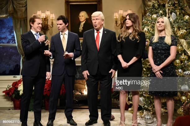 Alex Moffat as Eric Trump Mikey Day as Donald Trump Jr Alec Baldwin as President Donald J Trump Cecily Strong as First Lady Melania Trump Scarlett...