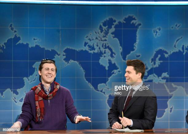 Alex Moffat as Guy Who Just Bought a Boat Colin Jost during 'Weekend Update' in Studio 8H on Saturday December 16 2017