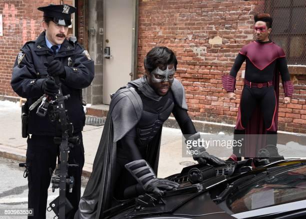 Alex Moffat Kevin Hart as Captain Shadow Chris Redd as Cardinal during 'Captain Shadow' on Saturday December 16 2017
