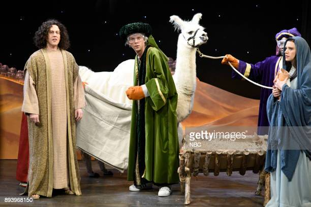 Alex Moffat Mikey Day Kevin Hart Kate McKinnon during 'Nativity Play' in Studio 8H on Saturday December 16 2017
