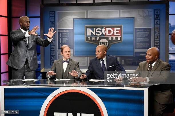 Kevin Hart as Shaquille O'Neal Alex Moffat as Ernie Johnson Chris Redd as Kenny Smith Kenan Thompson as Charles Barkley during Office Phone Call in...