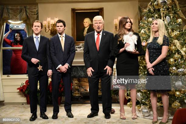 Leslie Jones as Omarosa Manigault Alex Moffat as Eric Trump Mikey Day as Donald Trump Jr Alec Baldwin as President Donald J Trump Cecily Strong as...