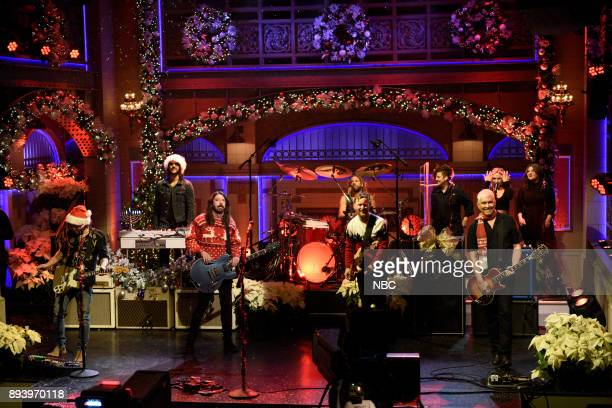 Musical Guest Foo Fighters perform a Christmas Melody in Studio 8H on Saturday December 16 2017