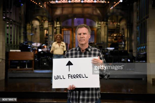 Host Will Ferrell during a promo in 30 Rockefeller Plaza