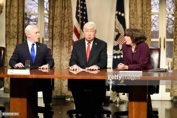 LIVE Episode 1739 Charles Barkley Pictured Beck Bennett as Vice President Mike Pence Alec Baldwin as President Donald J Trump Cecily Strong as...