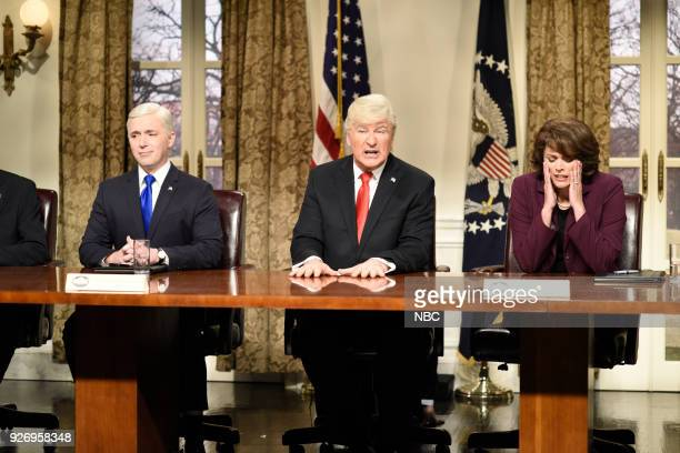 LIVE Episode 1739 'Charles Barkley' Pictured Beck Bennett as Vice President Mike Pence Alec Baldwin as President Donald J Trump Cecily Strong as...