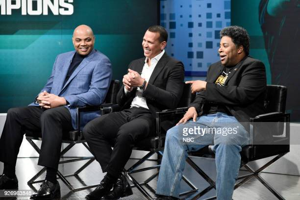 LIVE Episode 1739 'Charles Barkley' Pictured Charles Barkley as himself Alex Rodriguez as himself Kenan Thompson as DC Timmons during 'The Champions'...