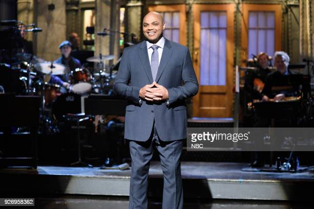 LIVE Episode 1739 'Charles Barkley' Pictured Charles Barkley during the Opening Monologue in Studio 8H on Saturday March 3 2018