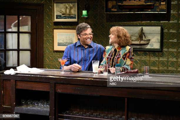 LIVE Episode 1739 'Charles Barkley' Pictured Charles Barkley Kate McKinnon during 'Last Call' in Studio 8H on Saturday March 3 2018