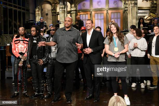 LIVE Episode 1739 Charles Barkley Pictured Musical Guest Migos Host Charles Barkley Alex Rodriguez Ice Hockey Olympian Hilary Knight Alec Baldwin in...