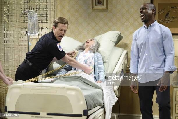 LIVE Episode 1740 Sterling K Brown Pictured Alex Moffatt Melissa Villaseñor as Mrs Gomez Sterling K Brown as Michael during Dying Mrs Gomez in Studio...