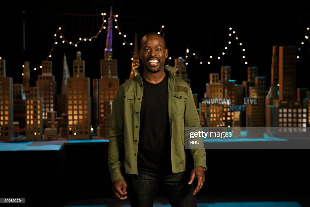 LIVE -- Episode 1740 'Sterling K. Brown' -- Pictured: Host Sterling K. Brown during a promo in Studio 8H --
