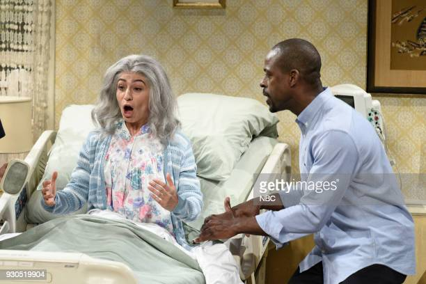 LIVE Episode 1740 Sterling K Brown Pictured Melissa Villaseñor as Mrs Gomez Sterling K Brown as Michael during Dying Mrs Gomez in Studio 8H on...