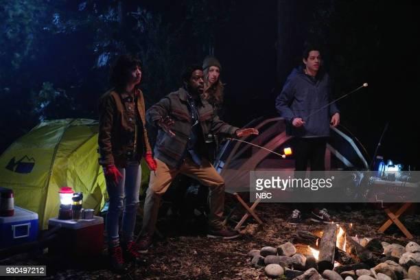 LIVE Episode 1740 Sterling K Brown Pictured Melissa Villaseñor Sterling K Brown Heidi Gardner Pete Davidson during Sasquatch on Saturday March 10 2018