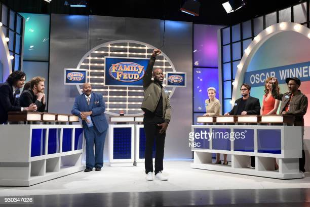 LIVE Episode 1740 'Sterling K Brown' Pictured Pete Davidson as Timothée Chalamet Alex Moffat Kenan Thomson as Steve Harvey Sterling K Brown as Common...
