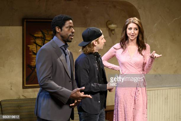 LIVE Episode 1740 Sterling K Brown Pictured Sterling K Brown as Jerome/Jason Kyle Mooney as Director Heidi Gardner as Alexa during Movie Coverage in...