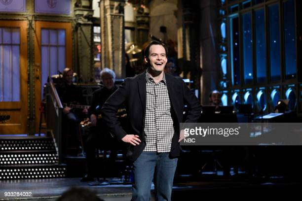 LIVE Episode 1741 Bill Hader Pictured Host Bill Hader during Opening Monologue in Studio 8H on Saturday March 17 2018
